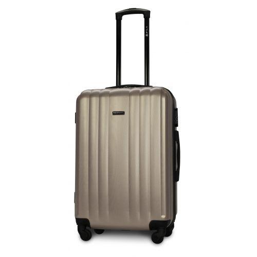 Набор пластиковых чемоданов на колесах Fly 614 4в1 шампань