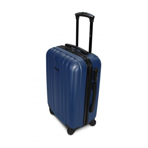 Набор пластиковых чемоданов на колесах Fly 614 3в1 синий