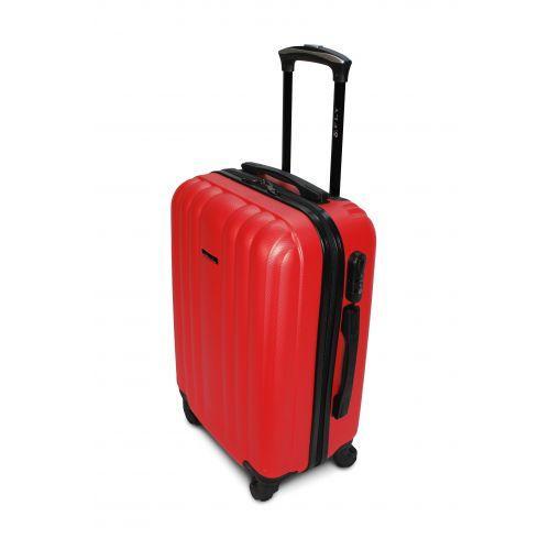 Пластиковый чемодан на колесах Fly 614 маленький красный