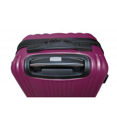 Пластиковый чемодан на колесах Fly 614 большой фиолетовый
