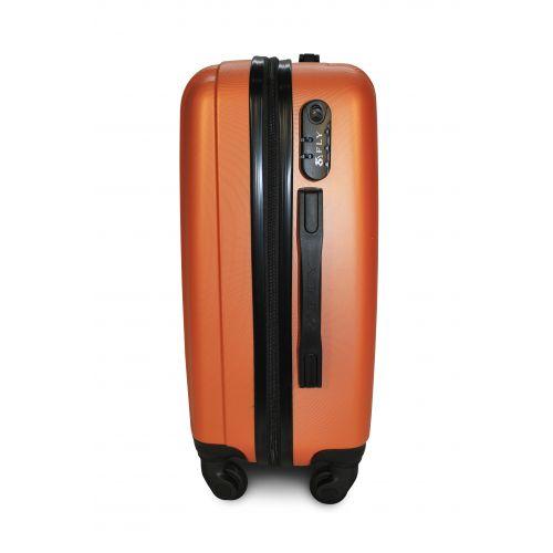 Пластиковый чемодан на колесах Fly 614 большой оранжевый