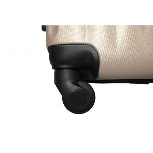 Набор пластиковых чемоданов на колесах Fly 614 3в1 шампань