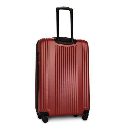 Пластиковый чемодан на колесах Fly 614 большой бордовый