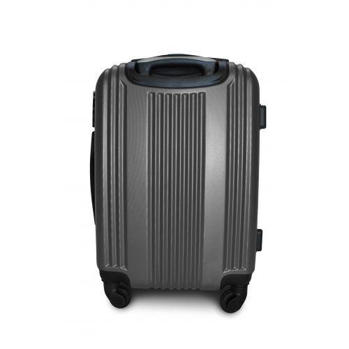 Пластиковый чемодан на колесах Fly 614 большой серый