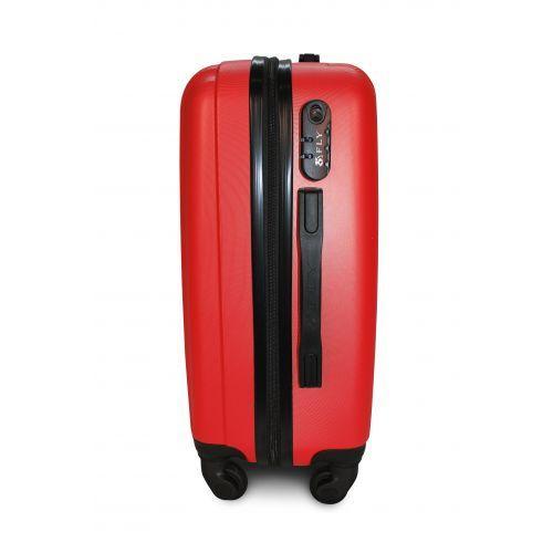 Пластиковый чемодан на колесах Fly 614 средний красный