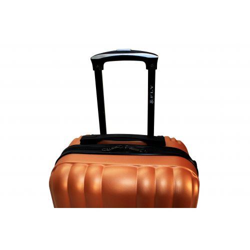Пластиковый чемодан на колесах Fly 614 средний оранжевый