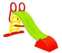 Горка спуск детская пластиковая Mochtoys 180 см, зелена