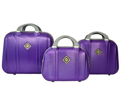 Набор дорожных кейсов Bonro Smile 3 штуки фиолетовый
