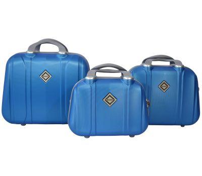 Набор дорожных кейсов Bonro Smile 3 штуки голубой