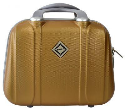 Дорожный кейс Bonro Smile большой золотой