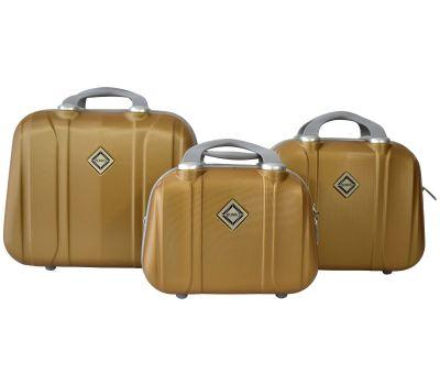 Набор дорожных кейсов Bonro Smile 3 штуки золотой