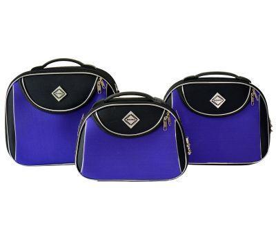Набор дорожных кейсов Bonro Style 3 штуки черно-фиолетовый