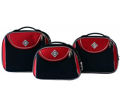 Набор дорожных кейсов Bonro Style 3 штуки черно-красный