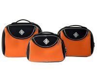 Набор дорожных кейсов Bonro Style 3 штуки черно-оранжевый