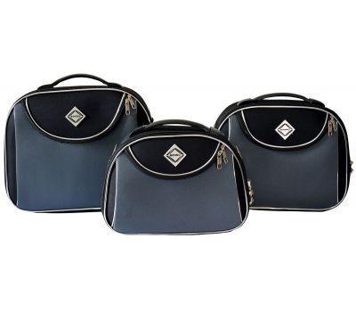 Набор дорожных кейсов Bonro Style 3 штуки черно-серый