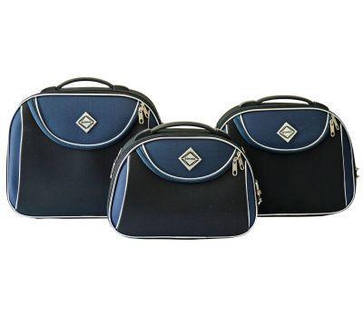 Набор дорожных кейсов Bonro Style 3 штуки черно-т.синий