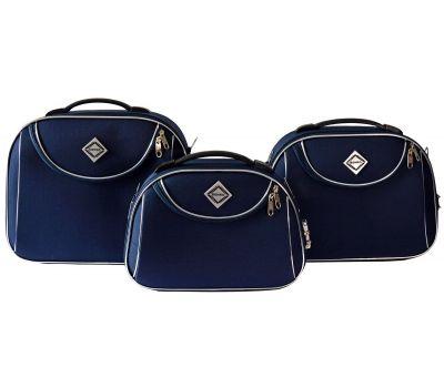 Набор дорожных кейсов Bonro Style 3 штуки синий