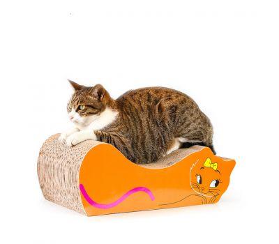 Когтеточка, дряпка - лежанка из картона для кошек Avko ACS020