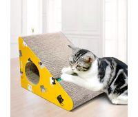 Когтеточка, дряпка - лежанка из картона для кошек Avko ACS016-YE