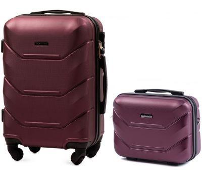 Комплект чемодан и кейс Wings 147 маленький бордовый