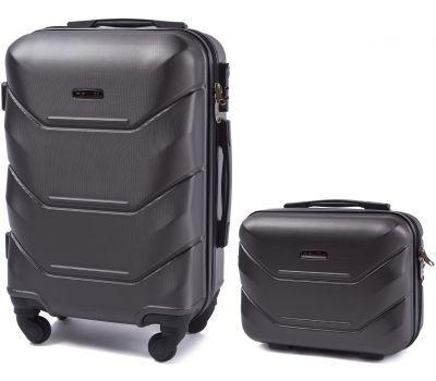 Комплект чемодан и кейс Wings 147 маленький серый