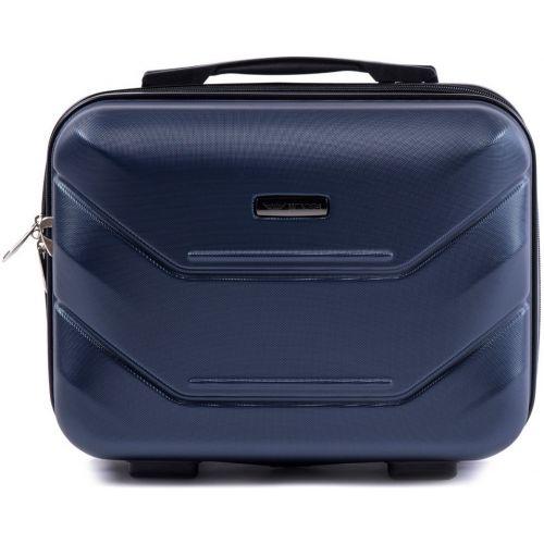 Комплект чемодан и кейс Wings 147 маленький темно-синий