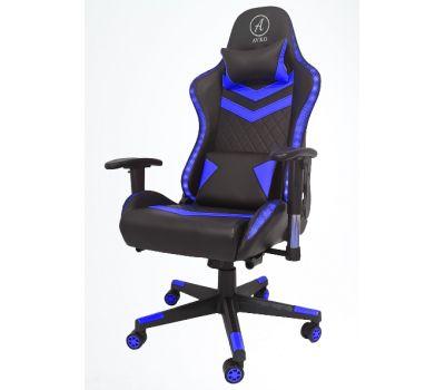 Кресло геймерское, компютерное Avko Style AG70650 Blue RGB подсветка