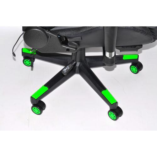 Кресло геймерское, компютерное Avko Style AG70670 Green RGB подсветка
