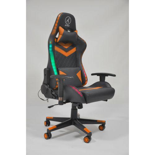 Кресло геймерское, компютерное Avko Style AG70680 Orange RGB подсветка