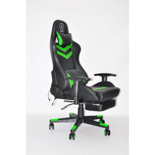 Кресло геймерское, компютерное Avko Style AG72830 Green RGB подсветка