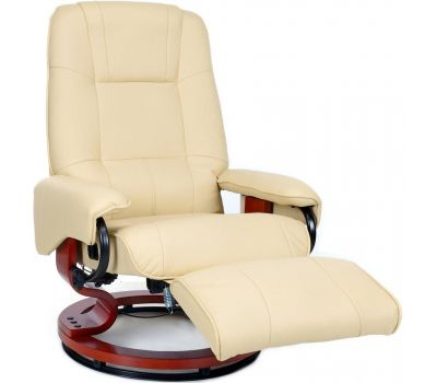 Кресло для отдыха Avko Style AR03 Beige массажем и подогревом