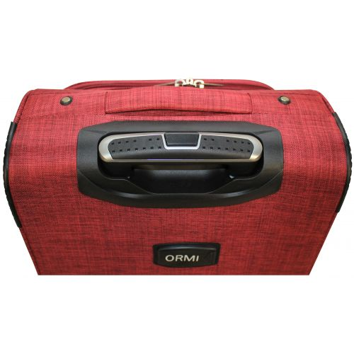 Тканевый чемодан Ormi 701 маленький S на 4-х колесах красный