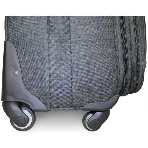 Тканевый чемодан Ormi 701 маленький S на 4-х колесах серый