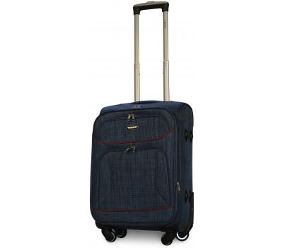 Тканевый чемодан Ormi 701 маленький S на 4-х колесах синий