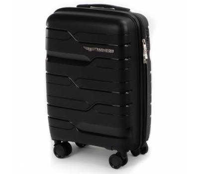 Полипропиленовый чемодан Wings Heron PP08 маленький черный