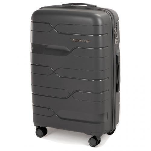Набор полипропиленовых чемоданов Wings Heron PP08 3 штуки серый