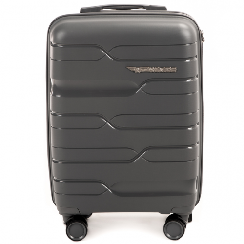 Полипропиленовый чемодан Wings Heron PP08 маленький серый