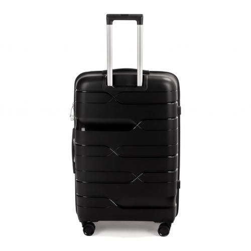 Полипропиленовый чемодан Wings Heron PP08 большой черный