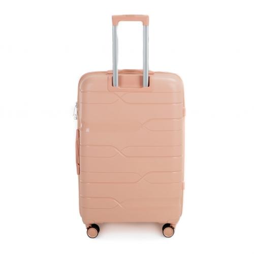 Полипропиленовый чемодан Wings Heron PP08 большой пудровый