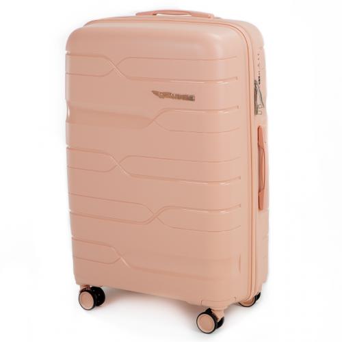 Набор полипропиленовых чемоданов Wings Heron PP08 3 штуки пудровый