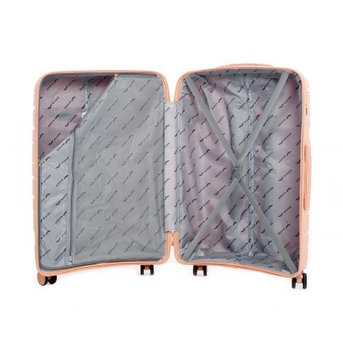 Полипропиленовый чемодан Wings Heron PP08 средний красный