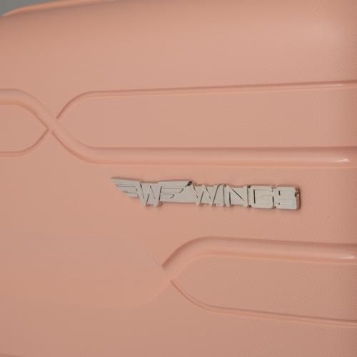 Полипропиленовый чемодан Wings Heron PP08 средний пудровый