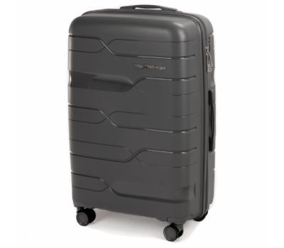 Полипропиленовый чемодан Wings Heron PP08 средний серый