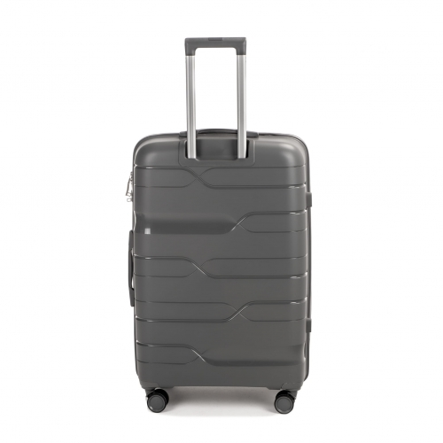 Полипропиленовый чемодан Wings Heron PP08 большой серый