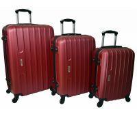 Набор чемоданов Siker Line 3 штуки бордовый