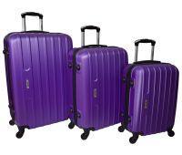 Набор чемоданов Siker Line 3 штуки фиолетовый