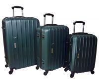Набор чемоданов Siker Line 3 штуки изумрудный