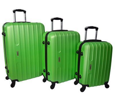 Набор чемоданов Siker Line 3 штуки салатовый