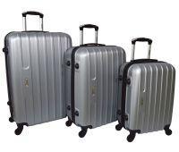 Набор чемоданов Siker Line 3 штуки серебряный