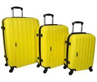 Набор чемоданов Siker Line 3 штуки желтый
